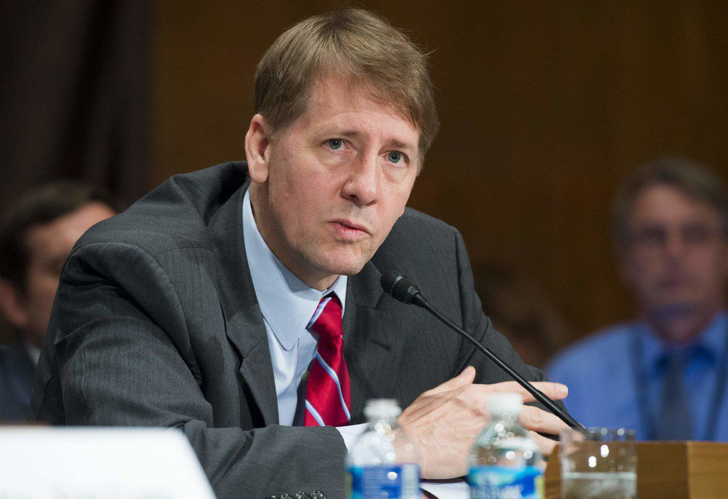 Richard Cordray of the Consumer Financial Protection Bureau testified before the Senate Banking, Housing and Urban Affairs Committee in September 2016. (File Photo/Agence France-Presse)