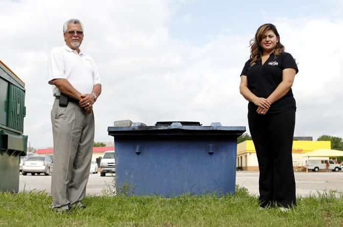 Angelina's Mexican Restaurant owner Louis Velez Jr. and manager Eliza Velez learned thieves had stolen used cooking oil from a vat outside the restaurant.