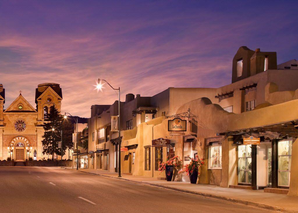 La Fonda on the Plaza's entrance on San Francisco Street, in Santa Fe, NM.