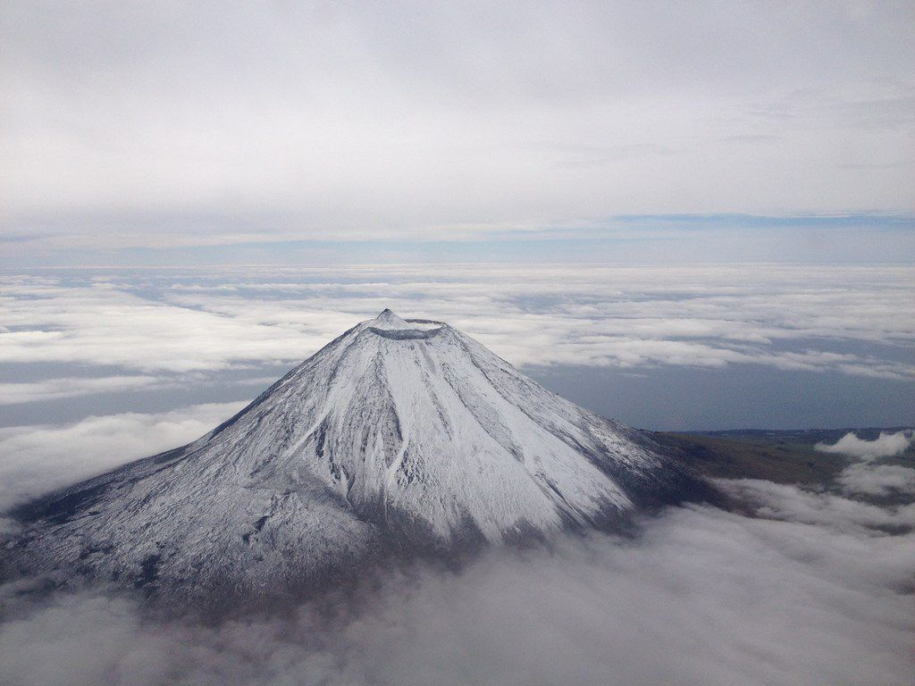 At 7,713 feet, the volcano on Pico Island is the highest mountain in Portugal and the third-highest in the Atlantic.