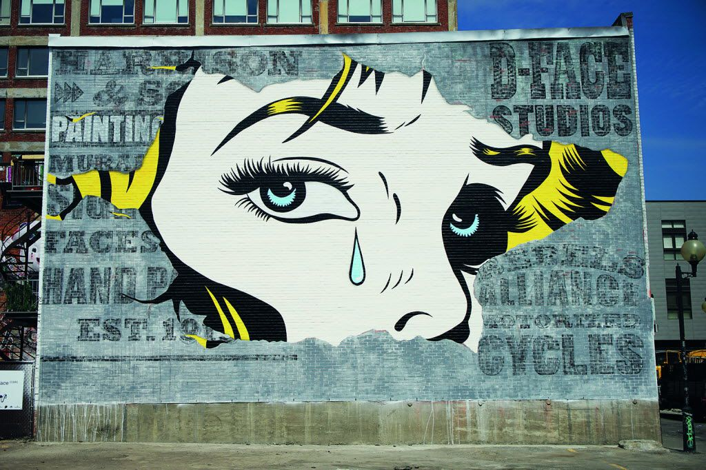 Mural Festival_Canada, 3547 Saint Laurent Boulevard, Montreal in Lonely Planet's 'Street Art' book. Artist: D*Face/Photo: HALOPIGG