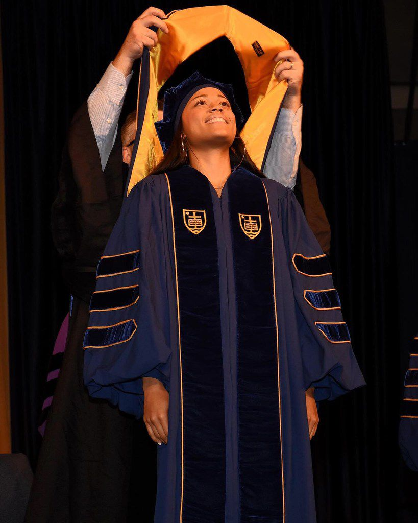 Cameasha Turner at her graduation ceremony from Notre Dame School of Law in May 2019.
