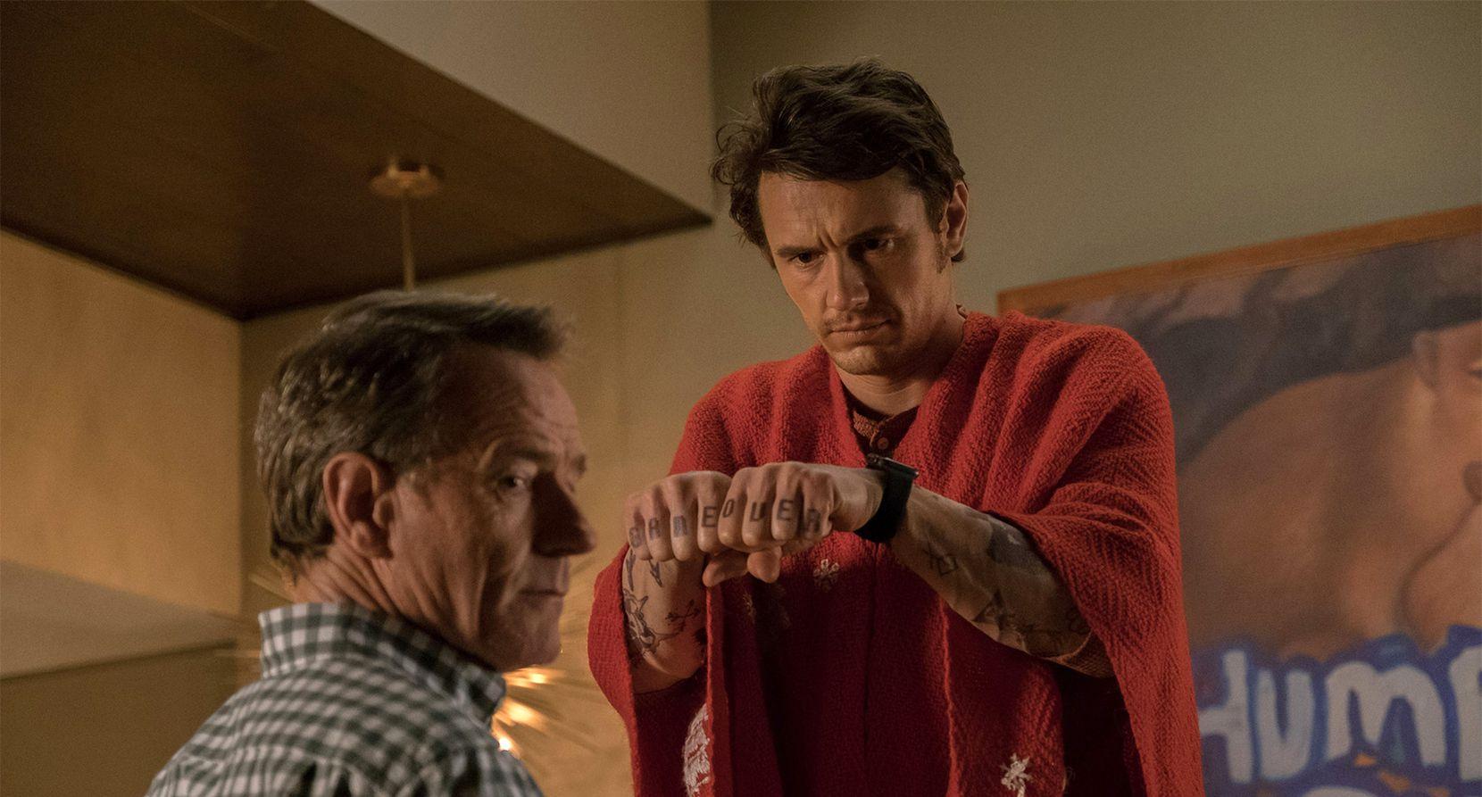 """ryan Cranston y James Franco en el filme """"Why Him?"""" (20th Century Fox)"""