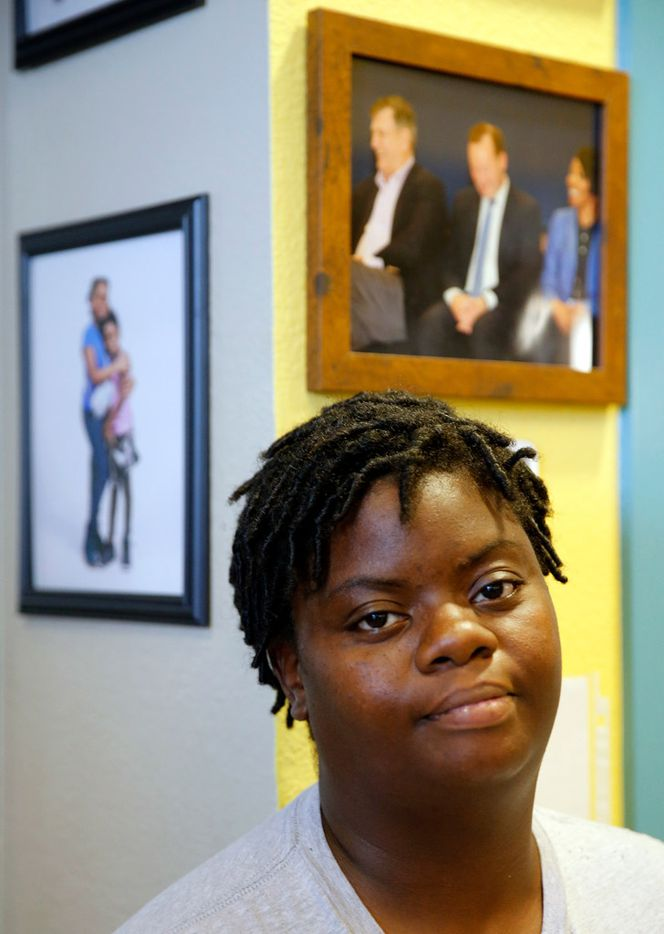 "Rose Community Center community caregiver Gege Coleman, who moved to the townhomes five years ago and said the complex has always been, to her, a ""community ... like family."""