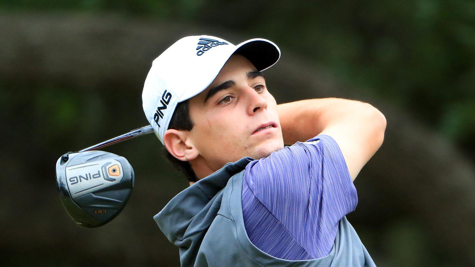 Joaquin Niemann, de Chile, debutó profesionalmente en abril. Tiene 19 años. (Getty Images/Tom Pennington)