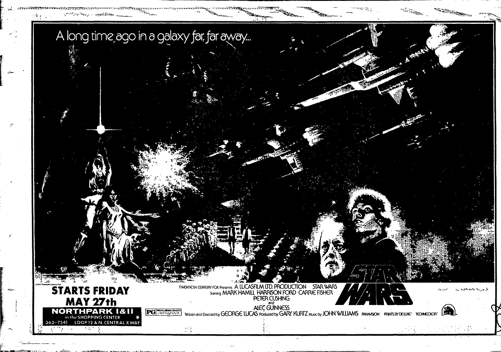 A full-page ad for Star Wars ran in The Dallas Morning News on May 22, 1977.