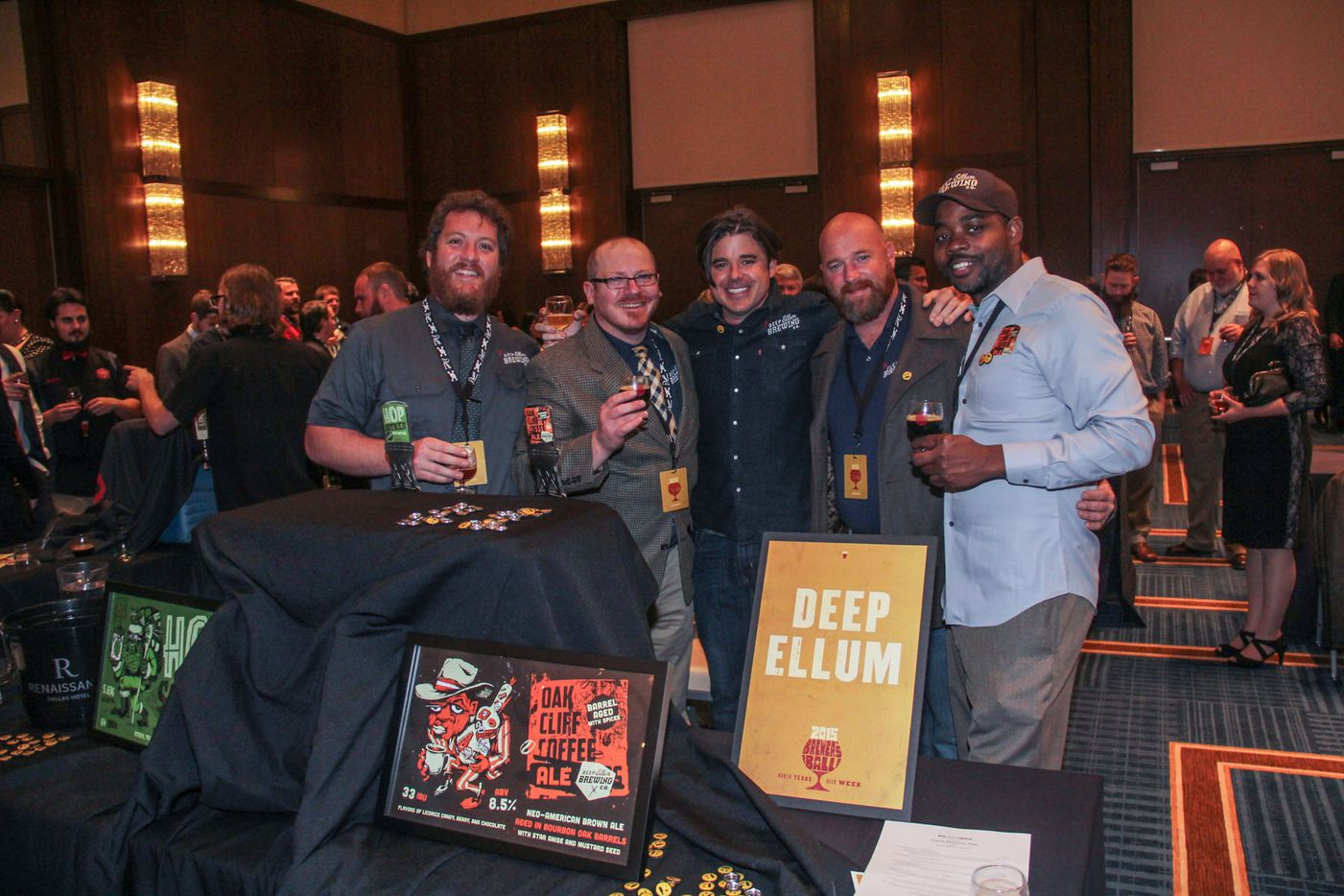 NTX Beer Week held its Second Annual Brewers Ball at the Renaissance Dallas Hotel on November 13, 2015. Deep Ellum Brew Crew.