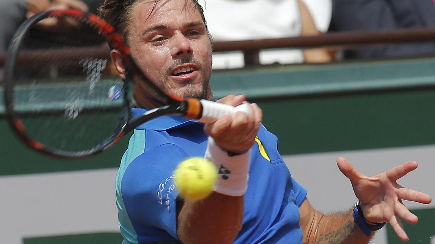 El suizo Stan Wawrinka es una de las figuras que esperan pueda romper con el monopolio de los cuatro grandes del tenis mundial, Roger Federer, Novak Djokovic, Rafael Nadal y Andy Murray. (AP/Michel Euler)