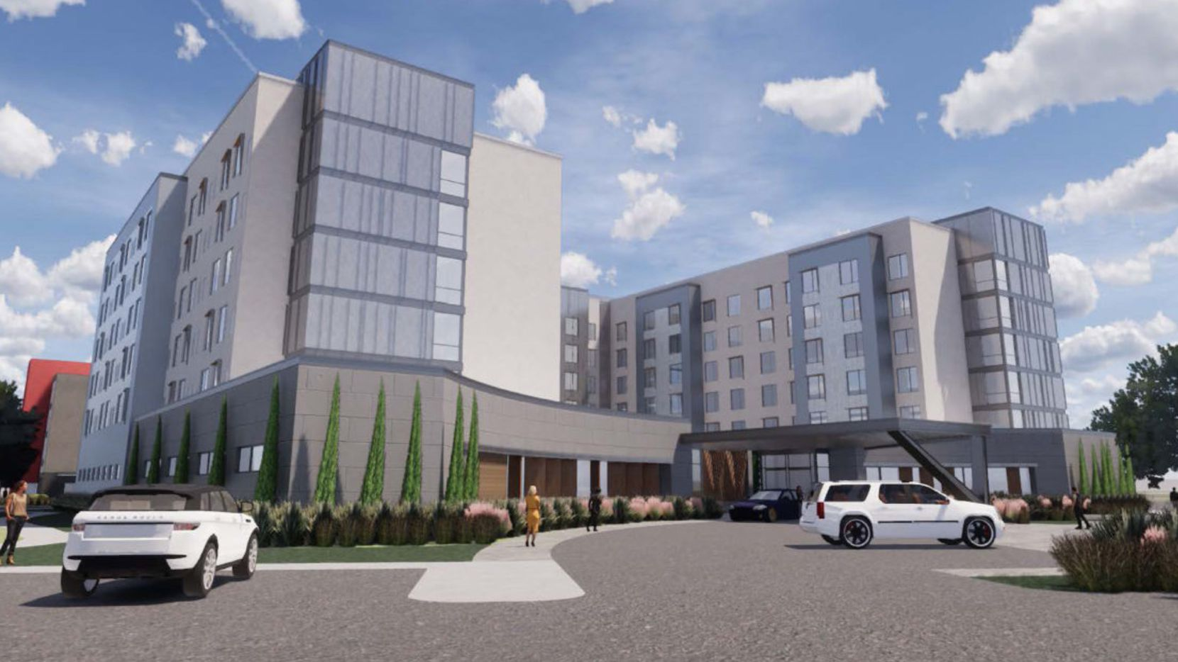 The new Avion Business Park hotels will be built on State Highway 114.