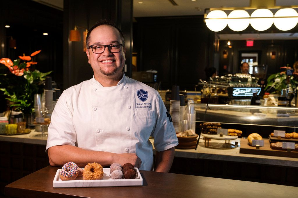 Ruben Torano, the new executive pastry chef at the Adolphus, photographed at the hotel on Thursday, June 6, 2019, in Dallas.