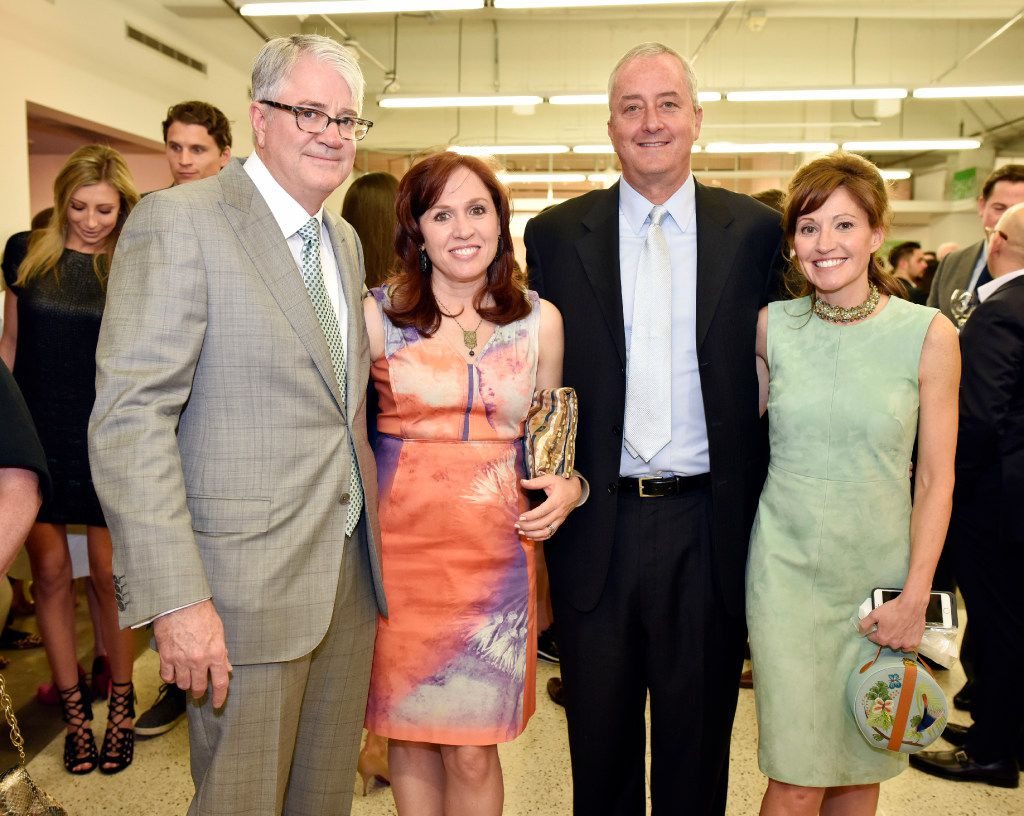 John Sughrue (left), founder of the Dallas Art Fair, along with Diana Newton, Geoff Newton and Marlene Sughrue, director of the annual event. (Ben Torres/Special Contributor)