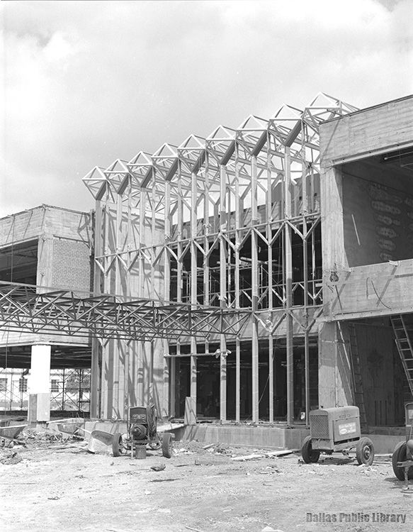 The building as it looked during construction in 1963