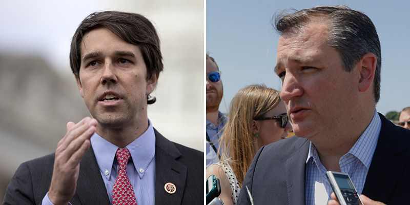 U.S. Rep. Beto O'Rourke (left) and Sen. Ted Cruz