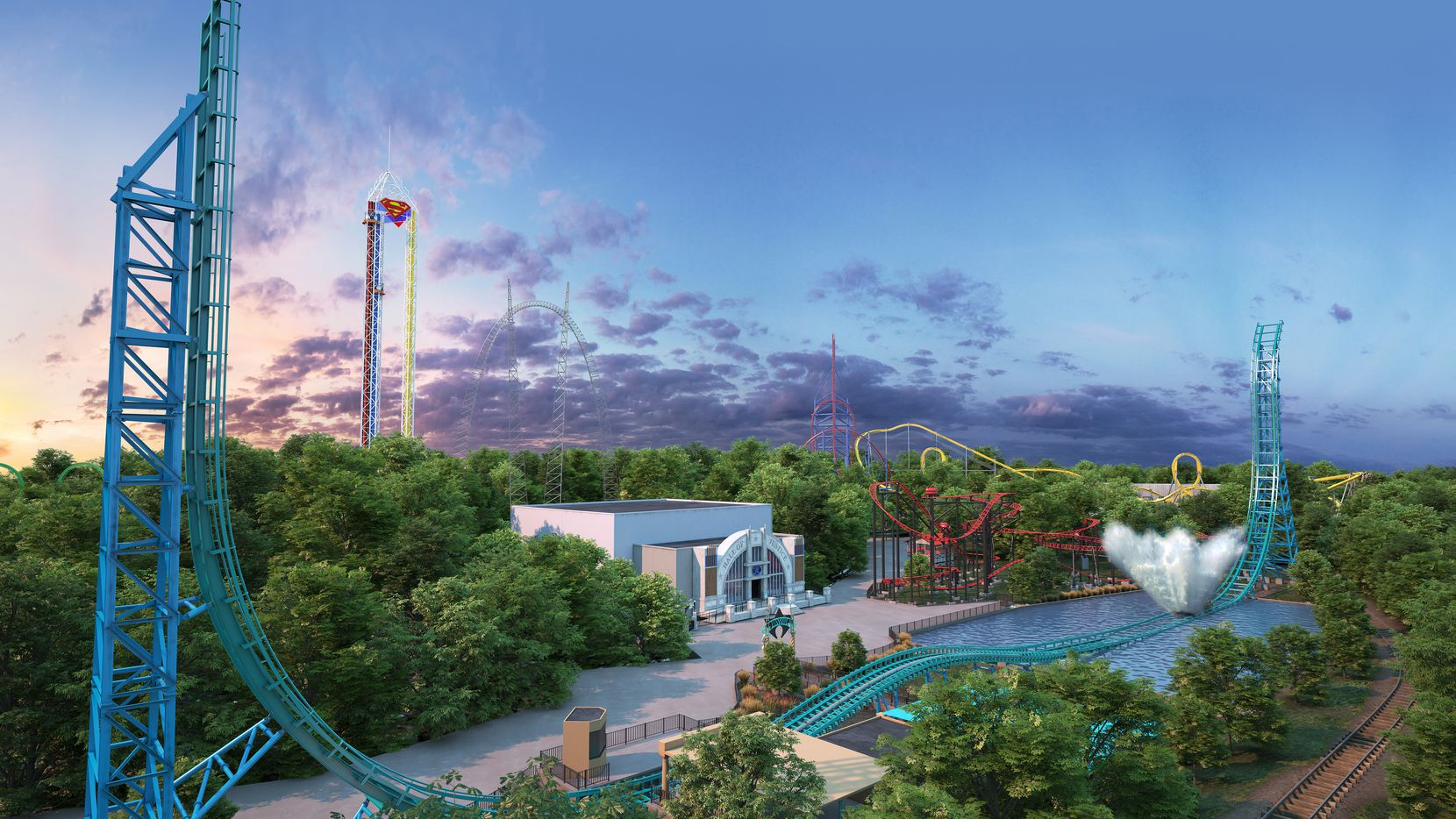 In 2020, Aquaman: Power Wave is expected to open at Six Flags Over Texas in Arlington.