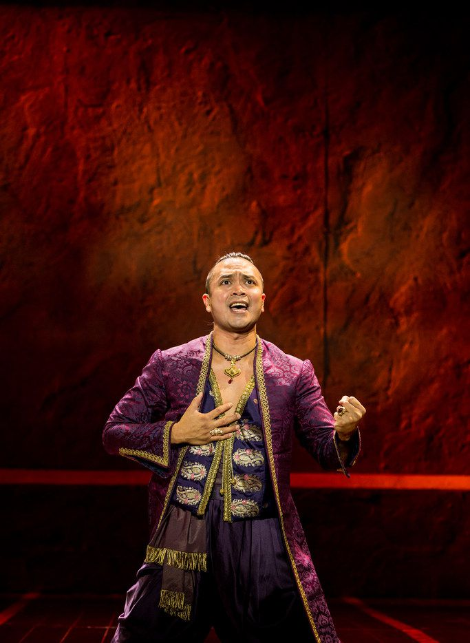 Jose Llana stars as the King inThe King and I, the Tony Award-winning Lincoln Center revival of the Rodgers and Hammerstein classic, presented by AT&T Performing Arts Center at Winspear Opera House Dec. 19-31.