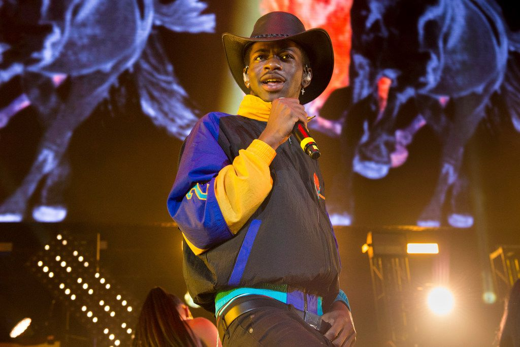 """Lil Nas X performs at the HOT 97 Summer Jam 2019 in East Rutherford, N.J. The rapper has taken his """"Old Town Road"""" to the top of the Billboard charts for 16 weeks, tying a record set by Mariah Carey and Luis Fonsi."""