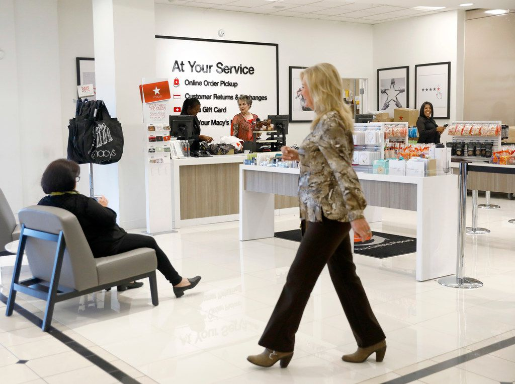 A new customer service area is right inside the first floor north entrance at the Macy's in NorthPark Center in Dallas. Upgrades have been made to several departments. Two local Macy's stores are part of its Growth50 stores program.