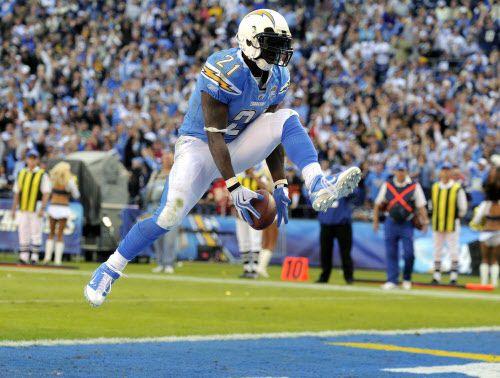 El corredor LaDainian Tomlinson y los Chargers jugarán en Los Ángeles. Foto AP