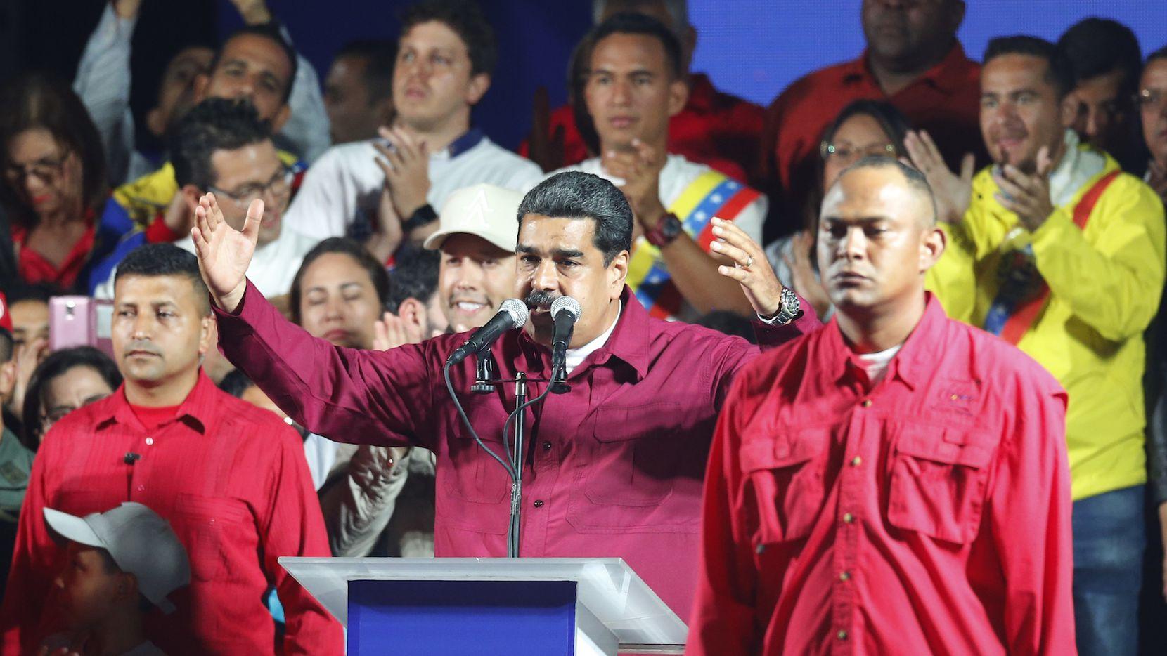Nicolás Maduro se proclamó ganador de la elección presidencial del domingo. AP