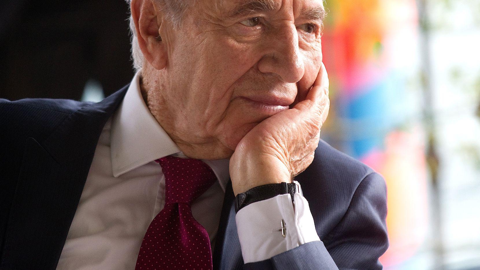 Shimon Peres durante una reunión en Italia en 2011.  (SIMON DAWSON/BLOOMBERG)