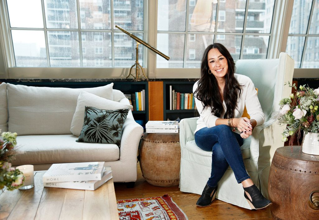 "Joanna Gaines poses for a portrait at The Greenwich Hotel in New York to promote her book ""Homebody: A Guide to Creating Spaces You Never Want to Leave."""