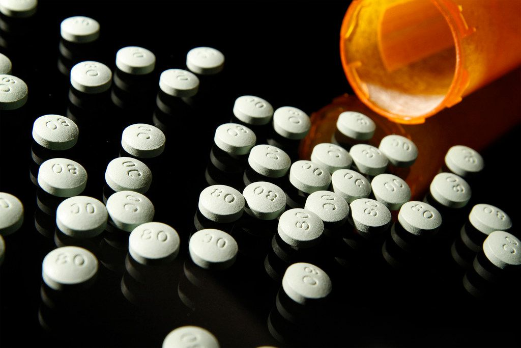 OxyContin, in 80 mg pills, in a 2013 file image. (Liz O. Baylen/Los Angeles Times/TNS)