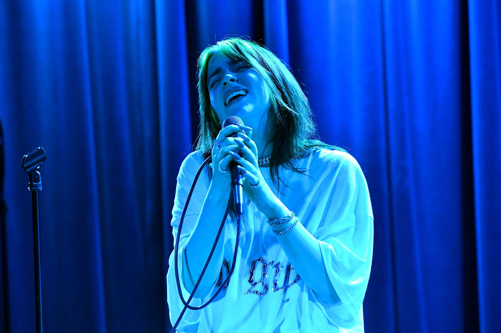 Singer Billie Eilish performs onstage at the Grammy Museum, which hosts concerts in addition to being a top-notch music museum.