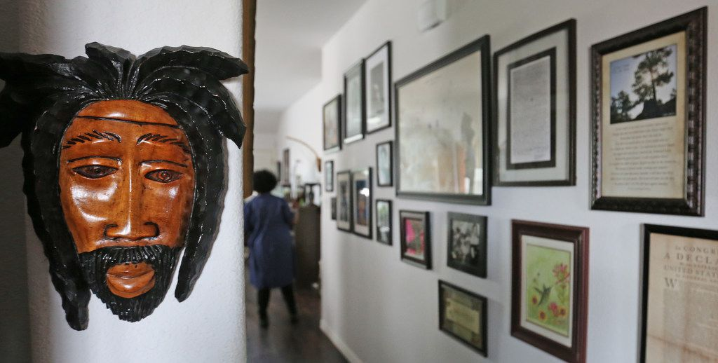 Wanell House's Pleasant Grove home is decorated with art and framed documents.