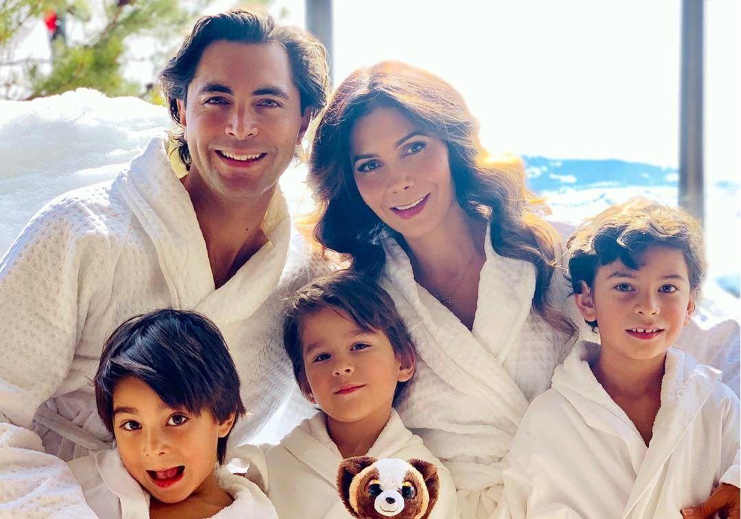 Desde que se casó y luego se convirtió en madre, la ex Garibaldi Paty Manterola (centro der.) pone como prioridad a sus hijos Lucca y los gemelos Alesso y Matteo. AGENCIA REFORMA