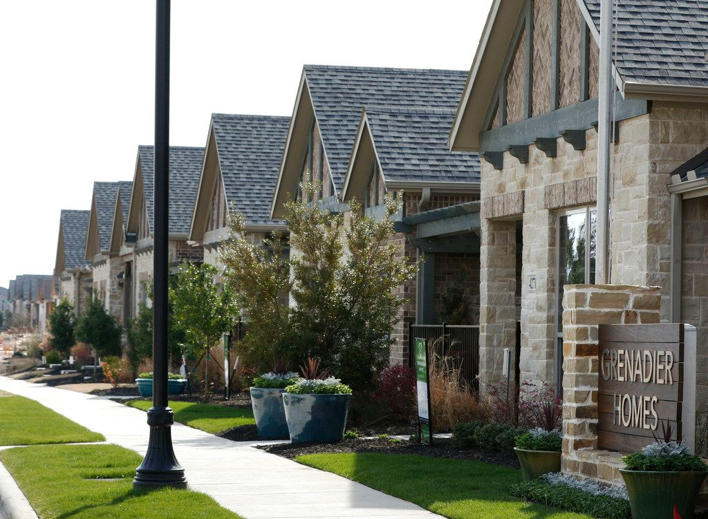 Grenadier Homes located in Windsong Ranch in Prosper, Texas offer Villa-style Townhomes starting in the high $200s. Childhood friends Anthony Natale and John Egnatis who still lead the company today founded Grenadier Homes in Dallas in 1992. Photo taken, Thursday, March 15, 2018. (David Woo/The Dallas Morning News)