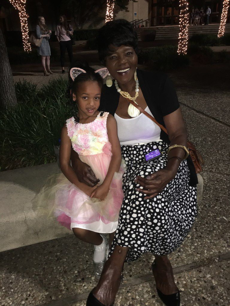 Annette Smith and her granddaughter Maya Smith, 4 (left) share thoughts about 'The Lion King' national tour, presented by Dallas Summer Musicals, after the Thursday, June 14 performance at Fair Park Music Hall. The show continues through July