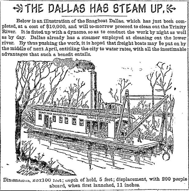 Image in The Dallas Morning News in February 1893.