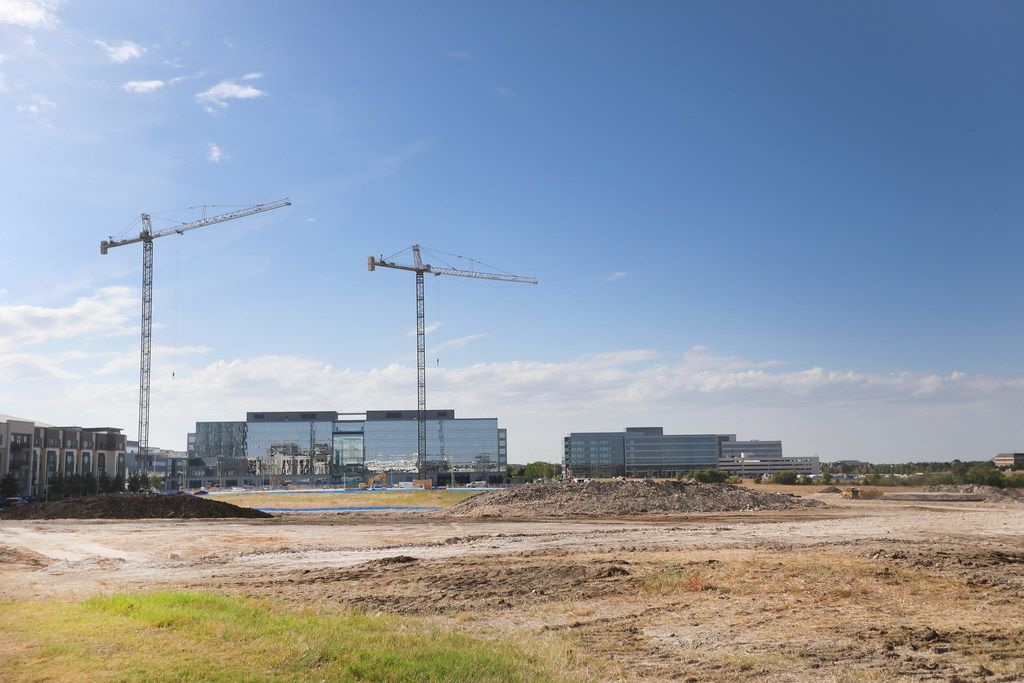 The groundwork is being done for streets and new apartments at Gaylord and Hickman parkways behind the new AC Hotel in Frisco.