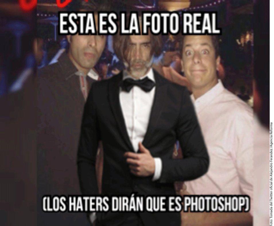 """""""Esta es la foto real. Los haters dirán que es photoshop"""", escribió Alejandro Fernández como respuesta a las fotografías que se viralizaron el martes pasado./AGENCIA REFORMA"""