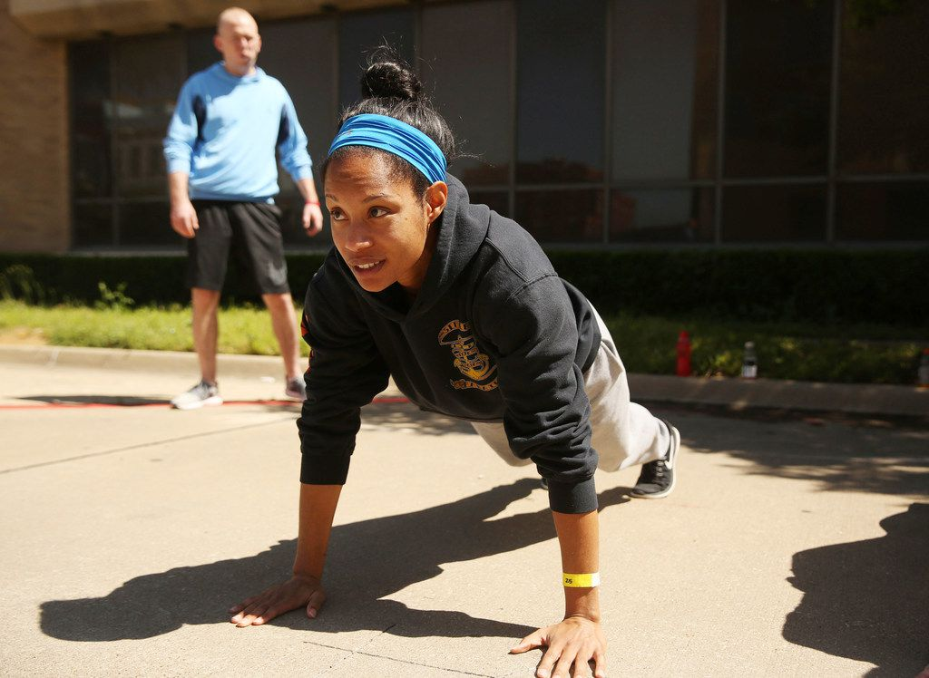 Amanda Martin, 29, who grew up near Fair Park, is trying out to become a Dallas police officer.