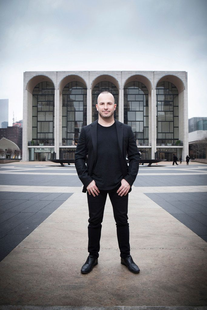 Yannick Nézet-Séguin in front of the The Metropolitan Opera, New York City, N.Y.