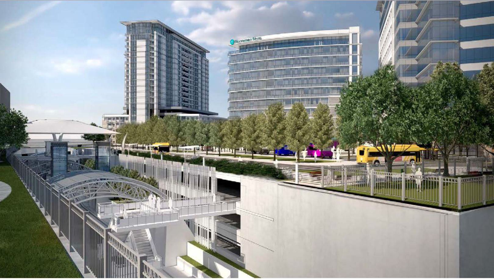 A series of residential, office and hotel towers would be built on top of underground parking at DART's Mockingbird Station.
