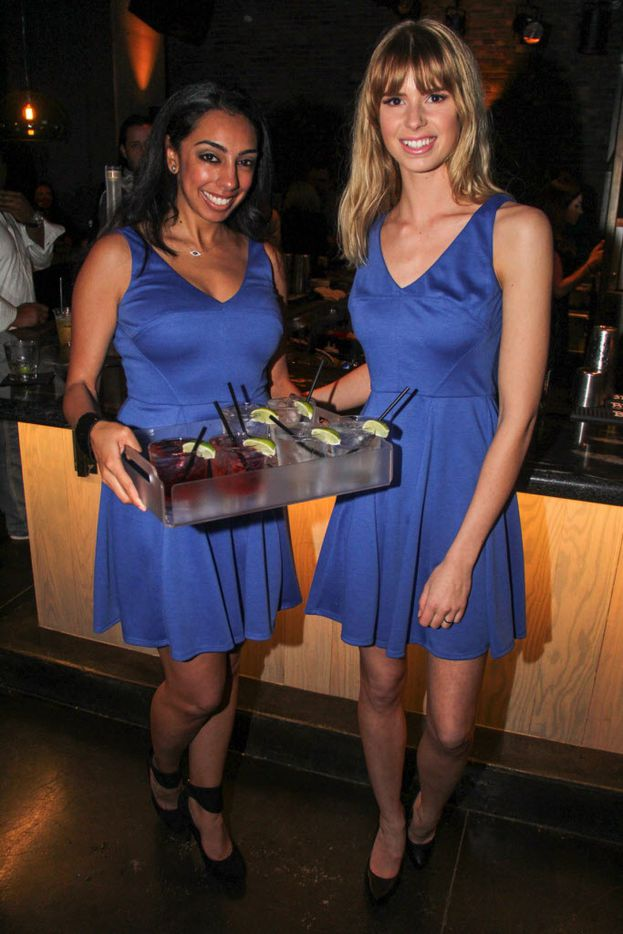 Nancy Messiha and Violet Hanners represented Belvedere Vodka at the party.