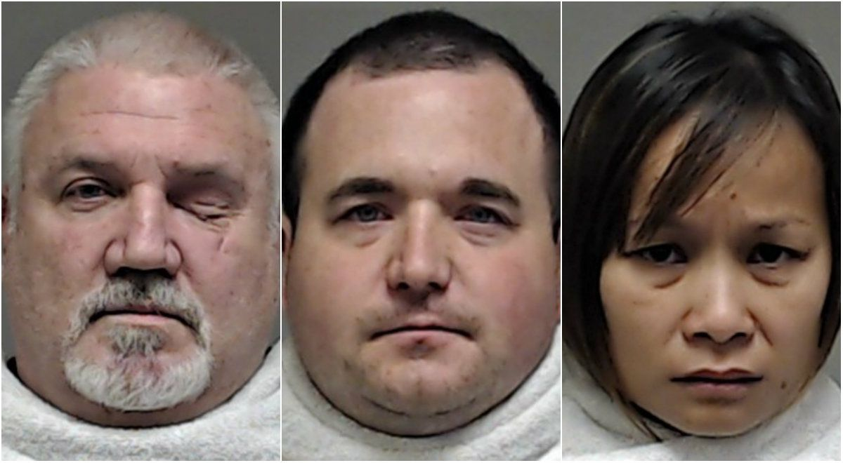 Ronald Rosser (from left) is accused of taking money from Stephen Brockway and his girlfriend, Chansamorn Pokai, to kill Pokai's husband, Richard Moore of McKinney, in 2015.