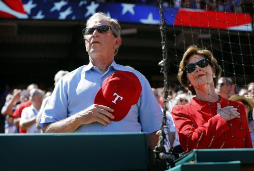George W. Bush y Laura Bush.