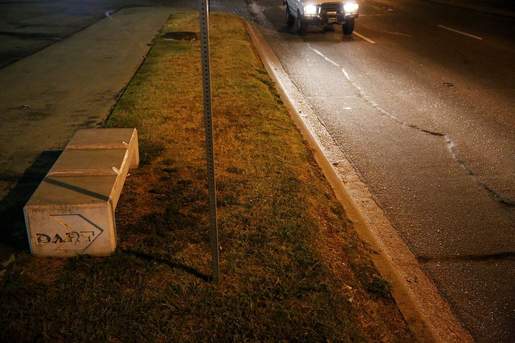 A curb on Mockingbird Lane in Dallas where Tony Timpa died in August 2016. Three officers were indicted in connection with his death a year later, but now prosecutors have dismissed charges of misdemeanor deadly conduct.