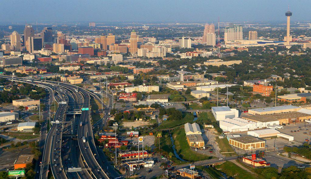 Aerial of San Antonio.