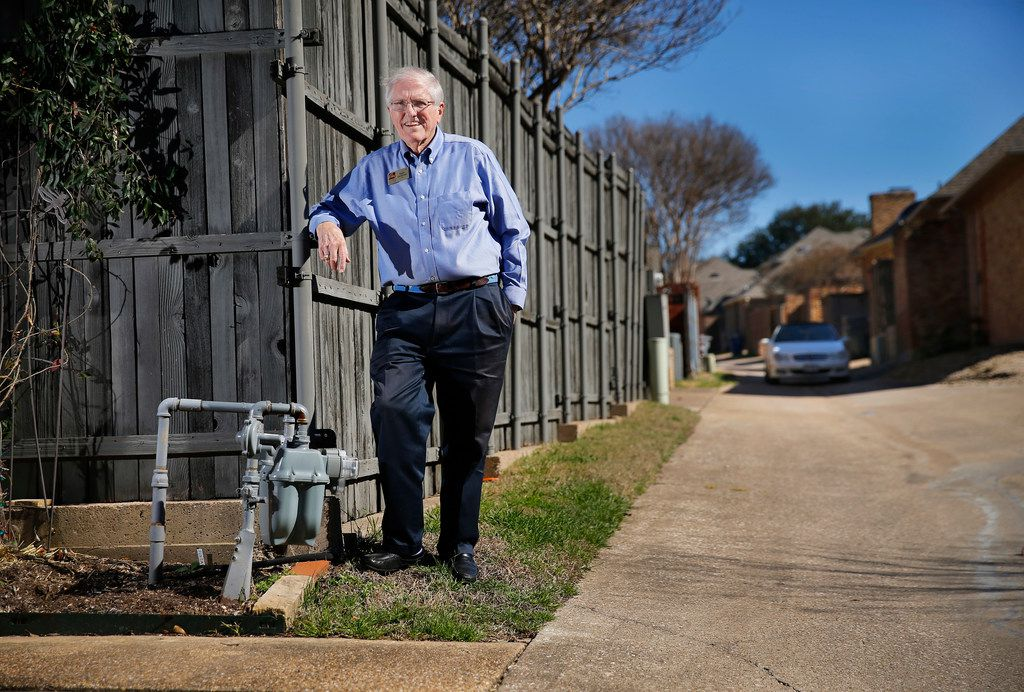 In 2017, a Dallas city garbage truck turning in the alley behind his house hit Ralph VanDuzee's gas meter, causing a hissing leak. Atmos Energy fixed it, but VanDuzee said the meter is now in a more vulnerable position, facing the alley. He said he's still waiting for Atmos to put a protective barrier around the meter.