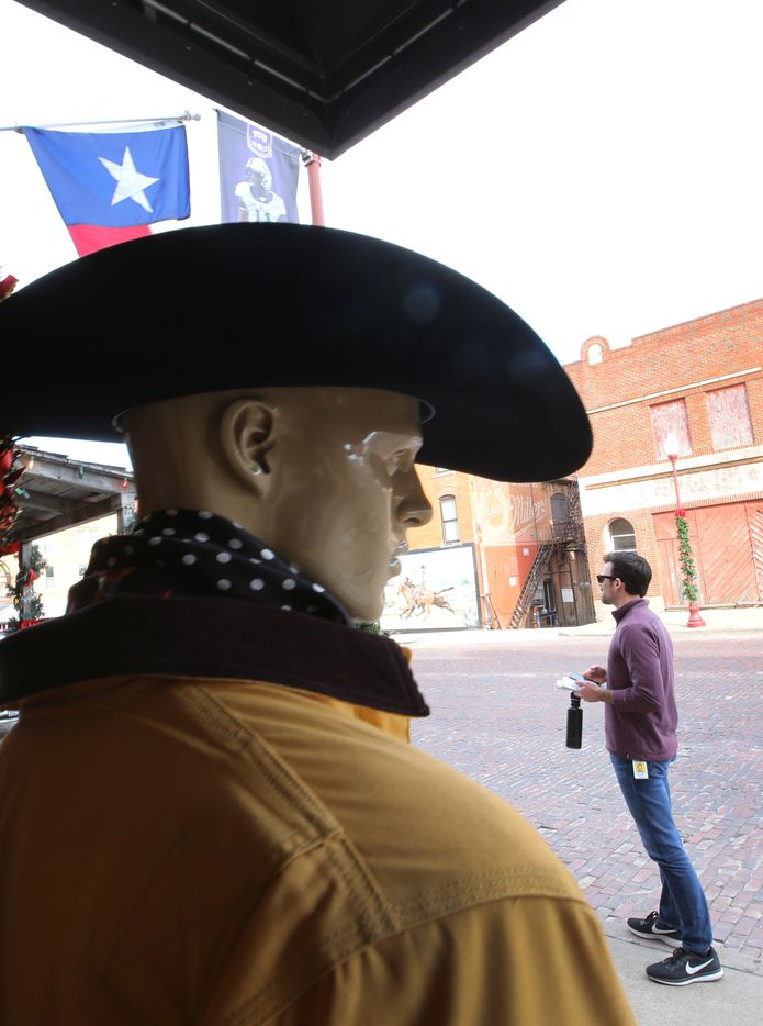 Howdy pardner, on Main Street in the Fort Worth Stockyards.