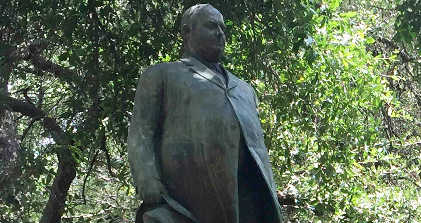 A statue of James Stephen Hogg on the University of Texas campus in Austin.
