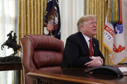 Trump alega que el comercio de drogas y el tráfico humano solo pueden ser combatidos con un muro./AP Photo/Jacquelyn Martin)