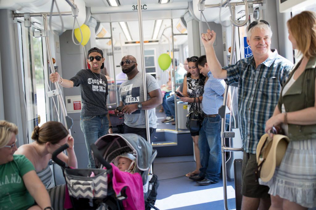 There's room for up to 30 passenger to sit and another 30 or so to stand on the streetcar, which made its debut in the Bishop Arts District on Saturday.