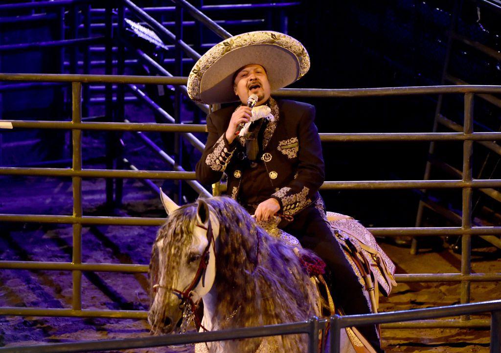 Pepe Aguilar en su show Jaripeo Sin Fronteras (Alberto E. Rodriguez/Getty Images)