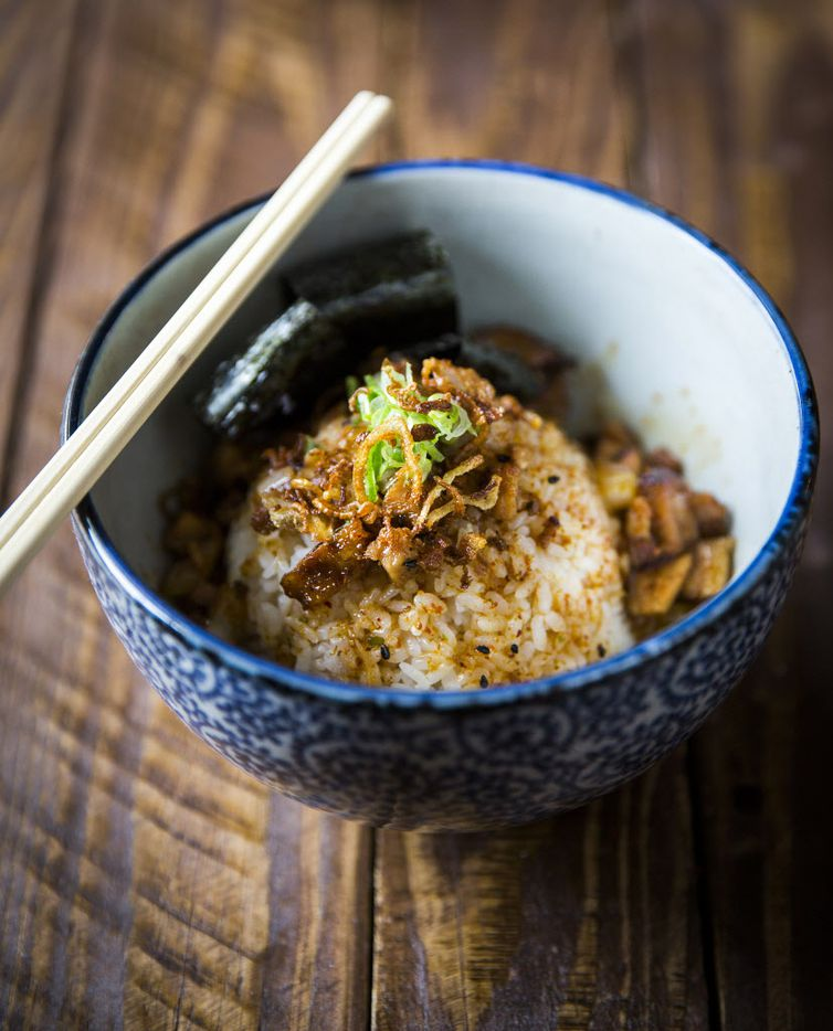 Buta soboro, rice with chopped chashu pork