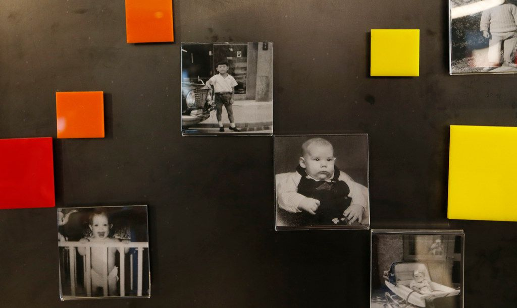 Baby photos of some of the employees on the wall at Toyota Connected in Plano on Monday, March 5, 2018. (Vernon Bryant/The Dallas Morning News)